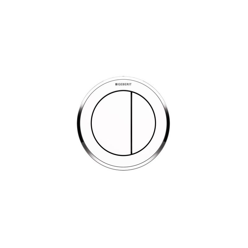 Geberit Dual Flush Button Type 10 White/Gloss Chrome/White