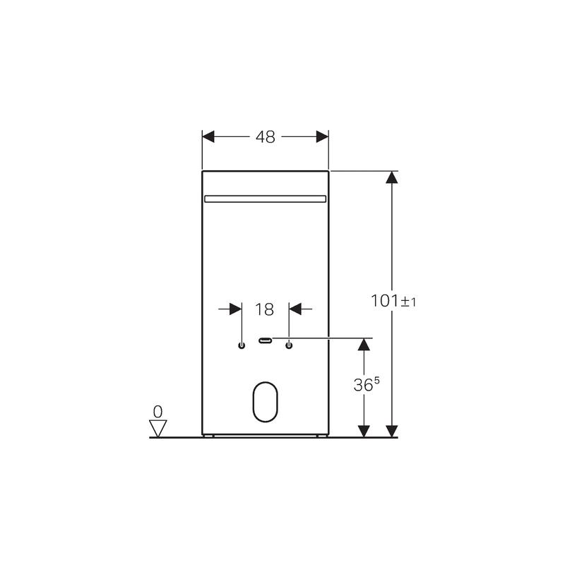 Geberit Monolith for Bidet, Height 101cm, White Glass