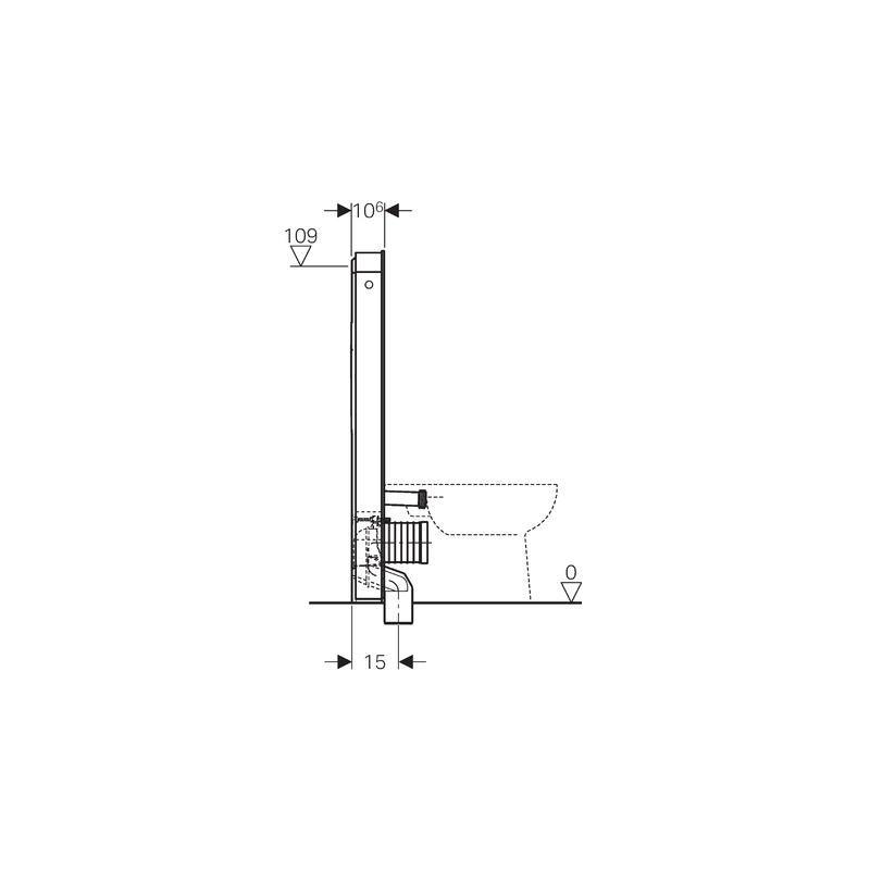 Geberit Monolith Plus Floor Standing WC 114cm Umber Glass