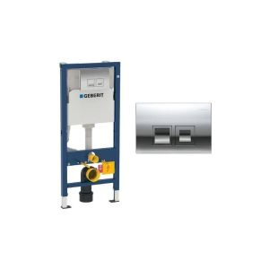 Geberit Duofix 112cm WC Frame with Delta50 Flush Plate