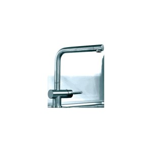 Gessi Oxygen Mono Sink Mixer with Swivel Spout Brushed Nickel