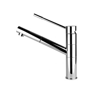 Gessi Oxygen Top Lever Sink Mixer with Pull-Out Chrome