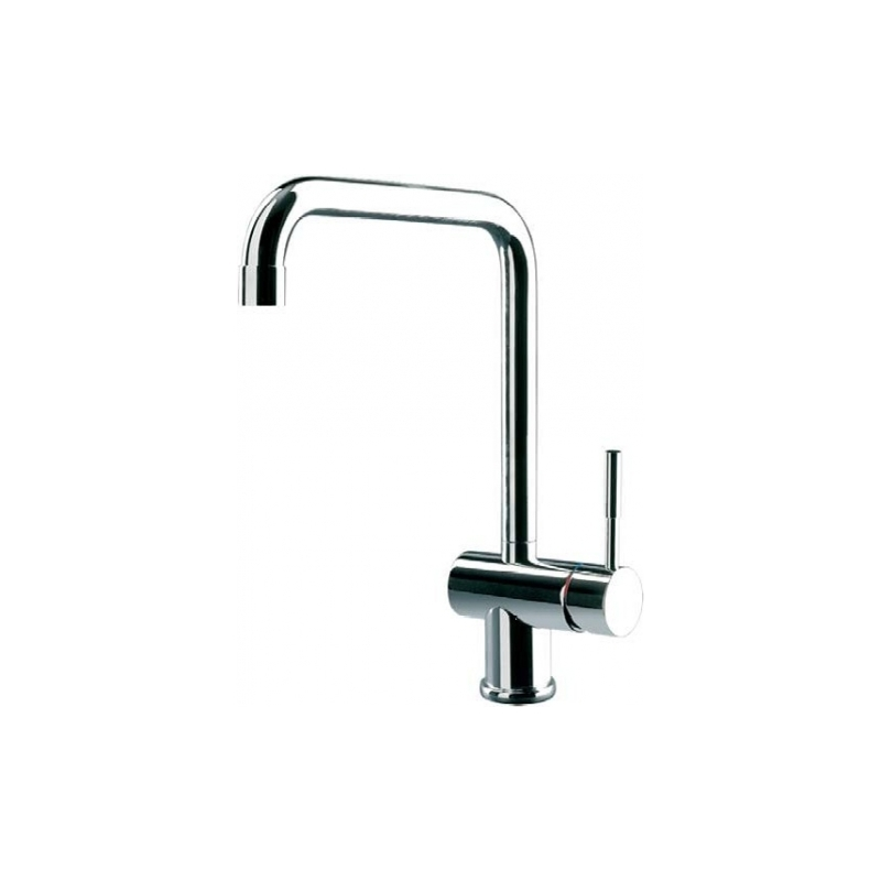 Gessi Oxygen Mono Sink Mixer with U Spout Brushed Nickel
