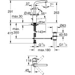Grohe Concetto Single-Lever Basin Mixer L-Size Chrome