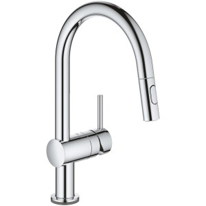 Grohe Minta C-Spout Touch Electronic Kitchen Sink Mixer Chrome