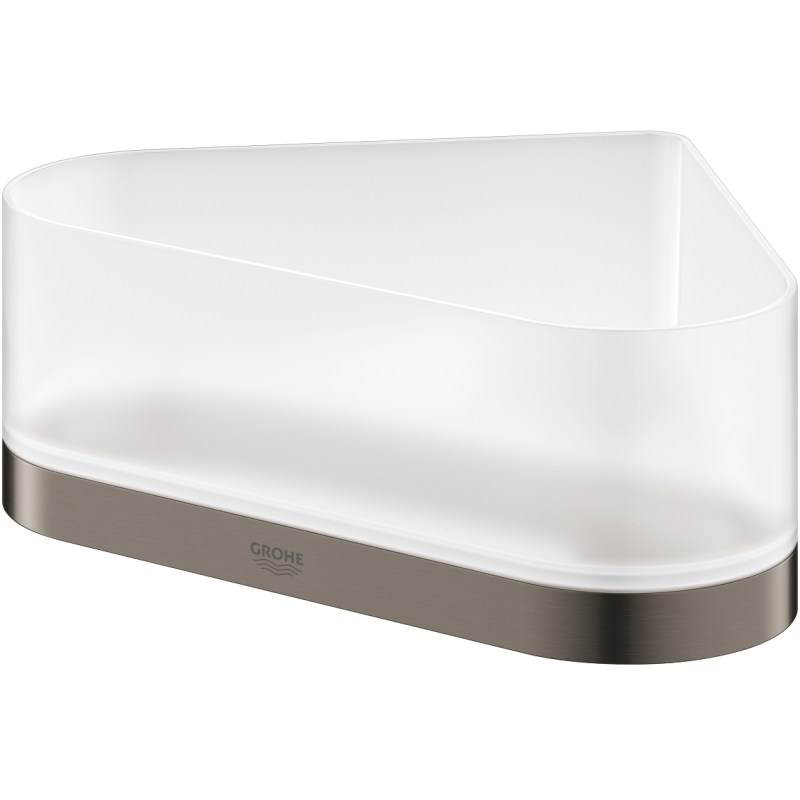 Grohe Selection Corner Shower Tray with Holder 41038 Brushed Graphite
