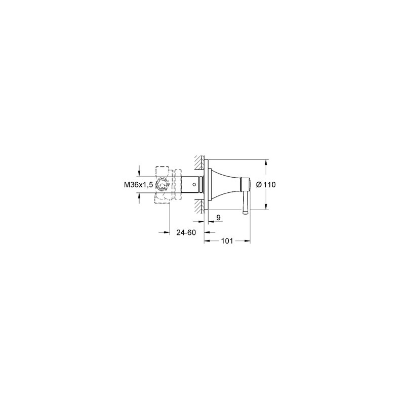 Grohe Grandera 5-Way Diverter 19942 Chrome