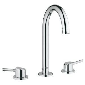 """Grohe Concetto Three-Hole Basin Mixer 1/2"""" Large 20216"""