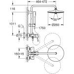 Grohe Euphoria Concetto Single Lever Shower System 23061