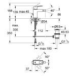 "Grohe Eurocube Bidet Mixer 1/2"" Small 23138"