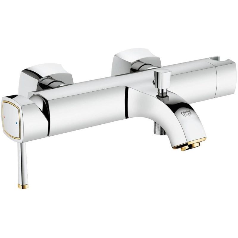 "Grohe Grandera Wall Bath/Shower Mixer 1/2"" 23317 Chrome/Gold"