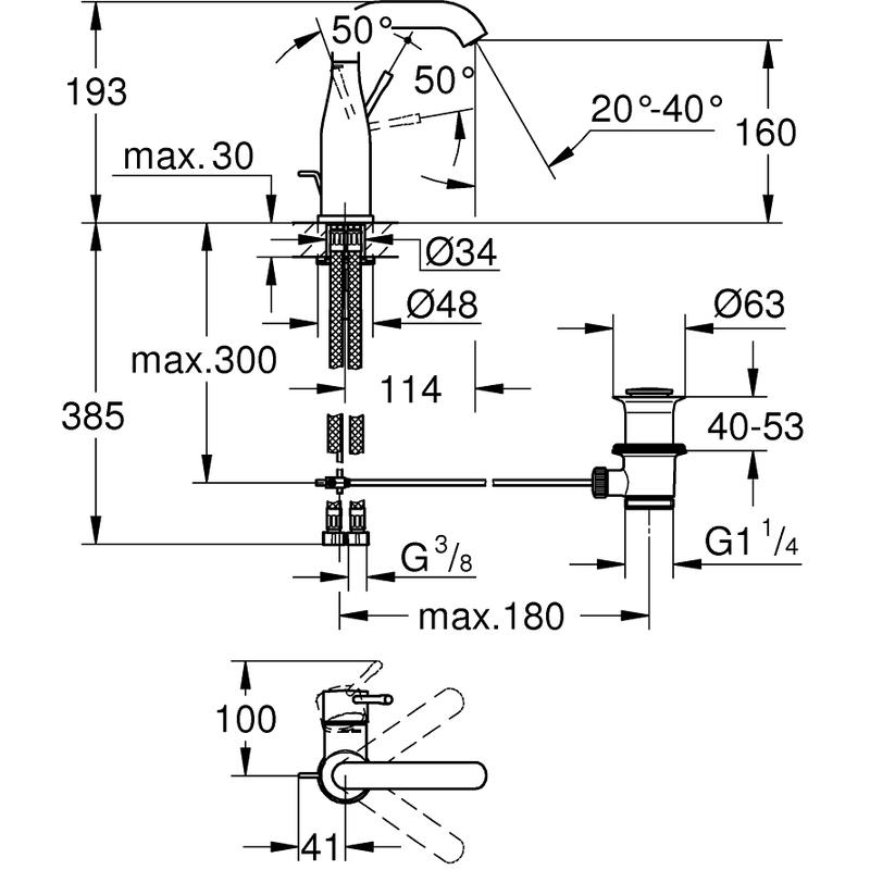 Grohe Essence Basin Mixer Tap 23462 Super Steel
