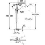 "Grohe Essence Single-Lever Bath/Shower Mixer 1/2"" 23491 Chrome"