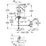 "Grohe Eurostyle Single-Lever Basin Mixer 1/2""  L-Size 23569"