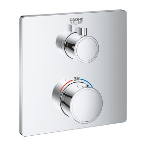 Grohe Grohtherm Square Thermostatic Mixer 2 Outlets 24079
