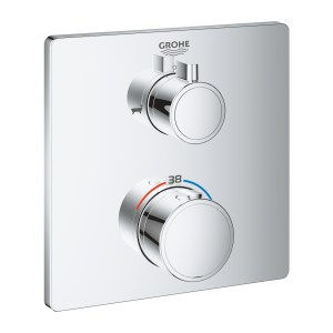 Grohe Grohtherm Thermostatic Bath Tub Mixer 2 Outlets 24080