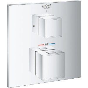 Grohe Grohtherm Cube Thermostatic Mixer Trim for 1 Outlet 24153