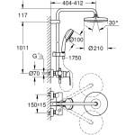 Grohe Tempesta Cosmopolitan 210 Single Lever Shower System 26224