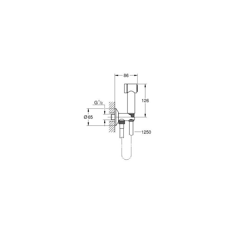 Grohe Sena 35 Trigger Spray Wall Holder with Angle Valve 26332