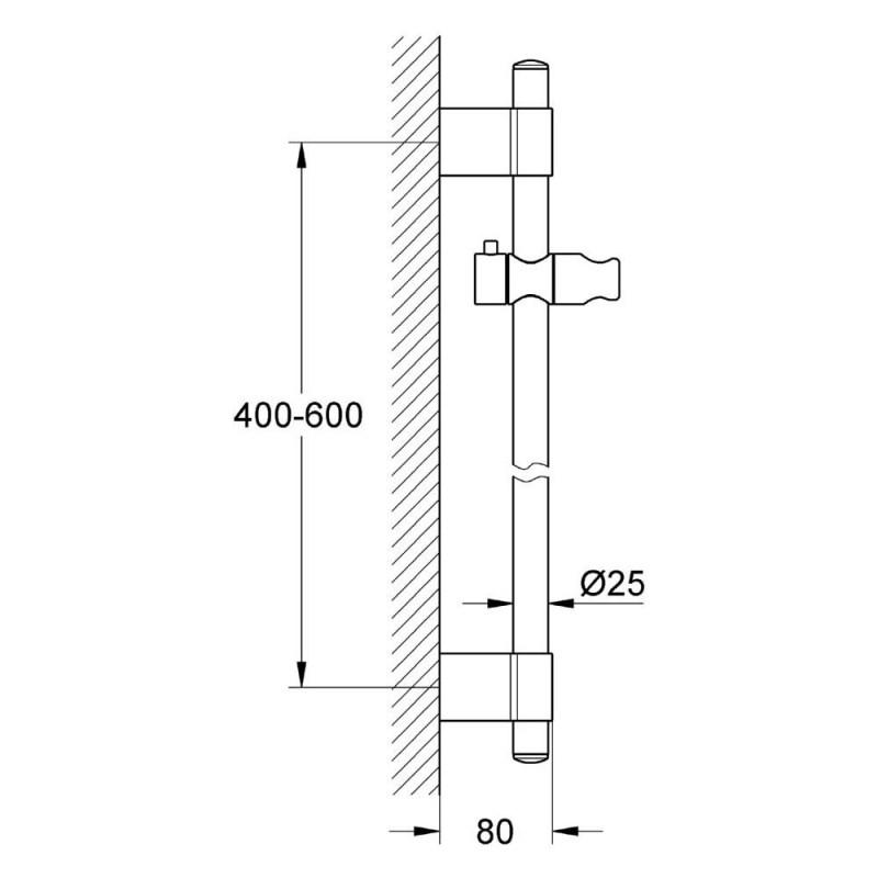 Grohe Power&Soul Shower Rail 600mm 27784