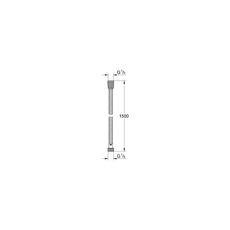 Grohe Relexa Metal Hose 1500mm 28105