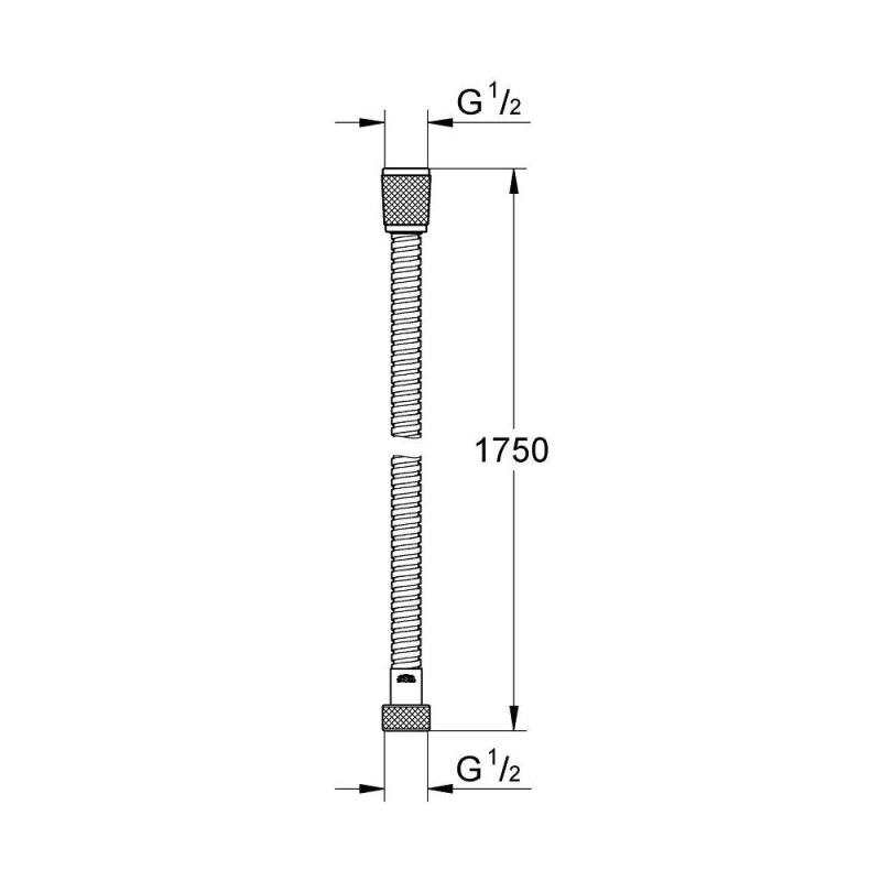 Grohe Relexaflex Metal Shower Hose 1750mm 28139