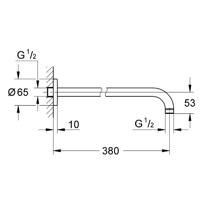 Grohe Ondus Shower Arm 380mm 28361
