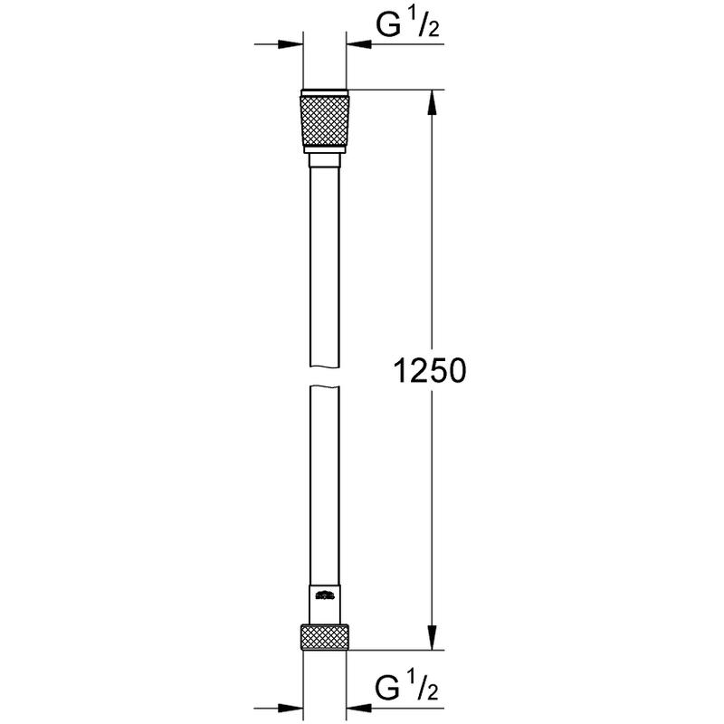 Grohe Silverflex Shower Hose 1250mm 28362 Brushed Hard Graphite