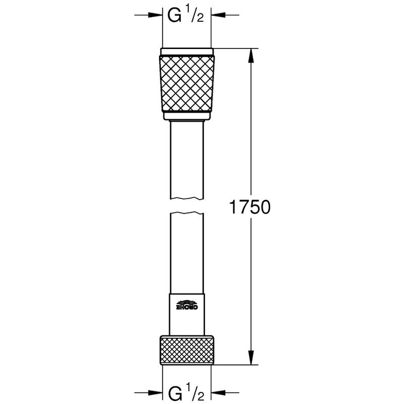 Grohe Rotaflex Shower Hose 1750mm 28410 Chrome
