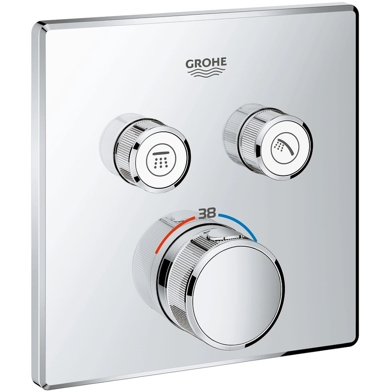 Grohe Smartcontrol Thermostat with 2 Valves 29124