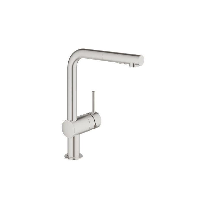 Grohe Minta Single-Lever Kitchen Sink Mixer Tap 30274 Supersteel