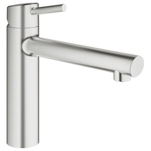 """Grohe Concetto Medium Spout Sink Mixer 1/2"""" 31128 Supersteel"""