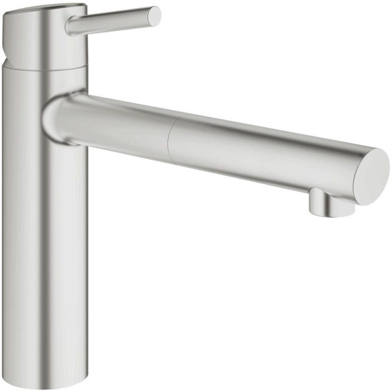 """Grohe Concetto Sink Mixer Pull Out Spout 1/2"""" 31129 Supersteel"""
