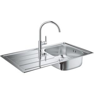 Grohe Bau Kitchen Sink & Tap Bundle 31562