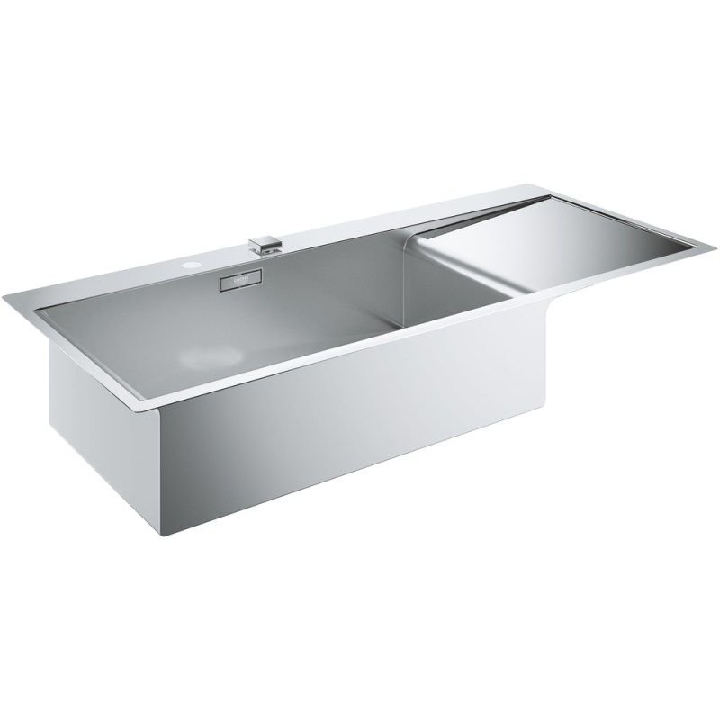 Grohe K1000 1 Bowl Stainless Steel Sink with Drainer Left 31581