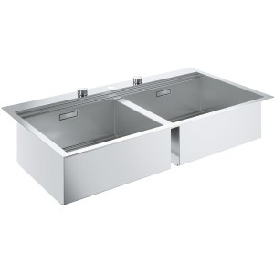 Grohe K800 2 Bowl Stainless Steel Sink 31585