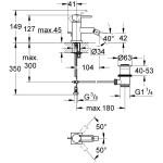 "Grohe Allure Bidet Mixer 1/2"" Medium 32147"