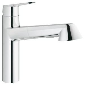"""Grohe Eurodisc Cosmopolitan Sink Mixer with Pull Out 1/2"""" 32257"""