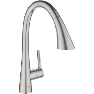 Grohe Zedra Sink Mixer with Pullout Spray 32294 Supersteel