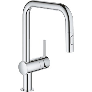 Grohe Minta Sink Mixer U-Spout with Pull Out Spray 32322