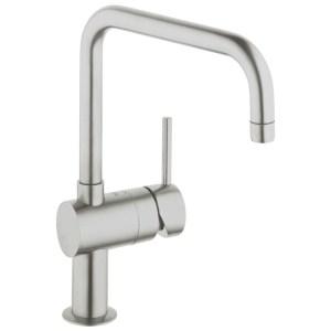 """Grohe Minta Mono Sink Mixer 1/2"""" 32488 Supersteel"""