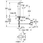 """Grohe Europlus Mono Basin Mixer Tap 1/2"""" X-Large 32618"""