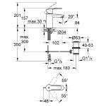 "Grohe Eurostyle Cosmopolitan Mono Basin Mixer 1/2"" Small 33552"