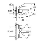 Grohe Lineare Single-Lever Bath/Shower Mixer Tap 33849 Steel