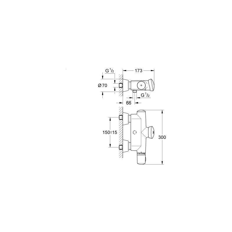 Grohe Eurodisc SE Self-Closing Shower Thermostat 36245