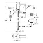 Grohe Eurosmart Cosmopolitan T Self-Closing Basin Mixer 36318