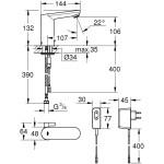Grohe Eurosmart Cosmo E Infra-Red Electronic Basin Mixer 36325