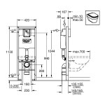 Grohe Rapid SL WC 1.13m 38675