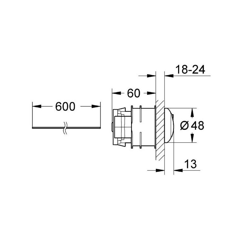 Grohe Eau2 Pneumatic Push Button Actuation 38771