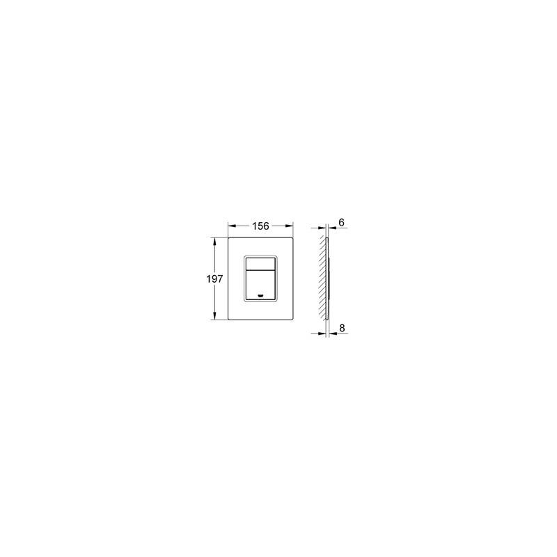 Grohe Skate Cosmopolitan WC Wall Plate 38845 Moon White